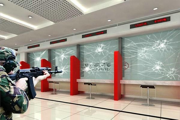 供电所营业厅防弹玻璃效果图