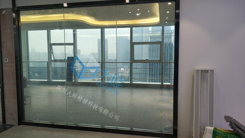办公室调光玻璃隔断,调光玻璃感应门